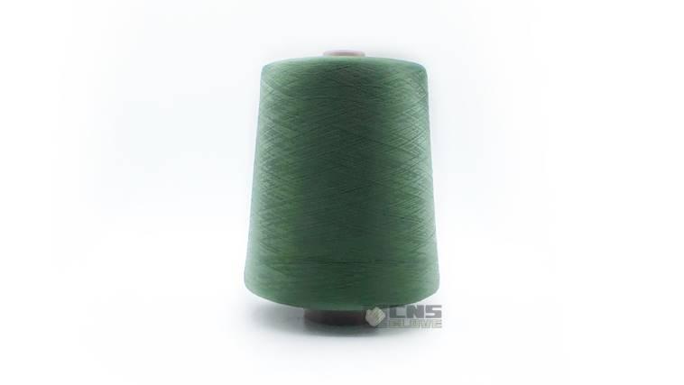 ไหมโพ้งขอบถุงมือสีเขียว