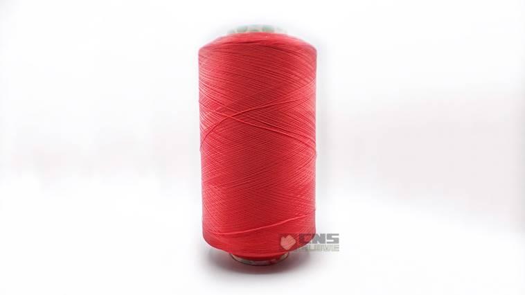 ไหมโพ้งขอบถุงมือสีแดง