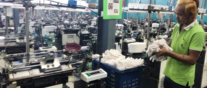 กระบวนการผลิตถุงมือผ้าฝ้าย